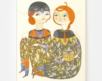 Meadow Friends - Greeting Card