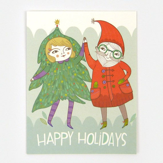 Christmas Dance - Greeting Card