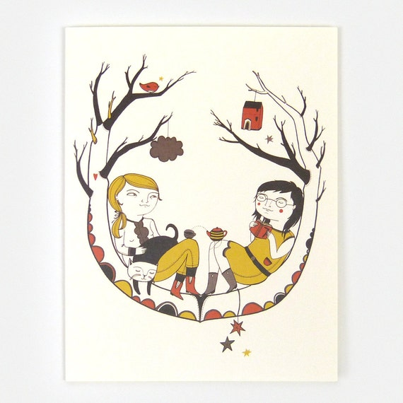 In The Tree - Greeting Card