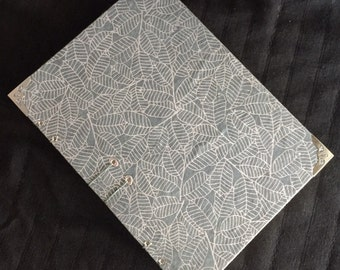 LEAVES (large) - Hand Bound Blank Journal/Sketch book