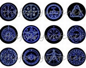 """1"""" Inch Pentacles and Amulets Pins, Magnets or Flatbacks 12 Ct."""