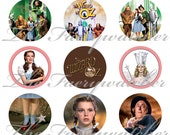 "1"" Inch Wizard of Oz Pins, Magnets or Flatback Buttons 12 Ct. Set E"