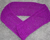 """New Handmade Infinity Scarf in Bright Violet - 7.5"""" x 60"""""""
