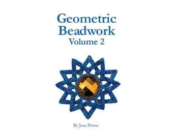 Beading book for seed beadweaving - Geometric Beadwork Volume 2- Now with free digital file