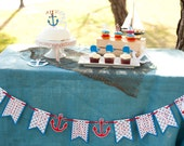 Nautical Baby Shower It's a Boy Banner - Sailboat Decorations - Little Sailor Anchor Party - Ahoy It's a Boy Garland Pennant Flags Party