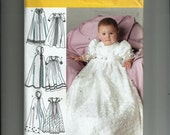 Simplicity 4766 New Uncut Babies Christening Dress and Cape