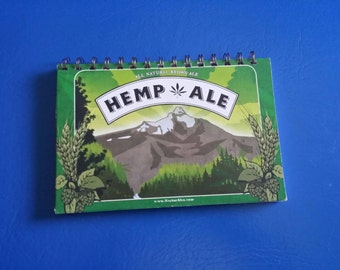 Hemp Ale Beer Recycled Notebook with 100% RECYCLED PAPER