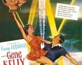 An American in Paris Vintage Movie Print - 11 X 17 Gene Kelly