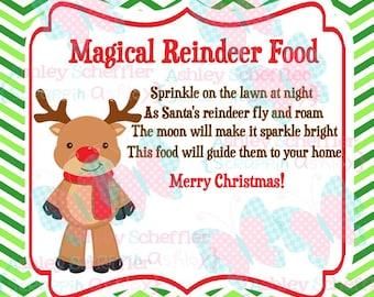 Reindeer Food. Reindeer. Christmas. Reindeer Food Tag. Printable. Favor Tag. Tag. Square Tag. Printable Tag. Instant Download. PDF File