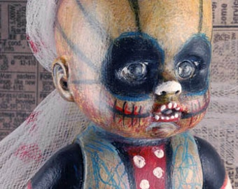 Laurie Geller Handmade Re-Purposed Art Doll...UNHOLY GRAIL