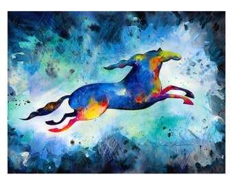 Horse Dreams No. 2... art archival print from original painting by Kathy Morton Stanion EBSQ