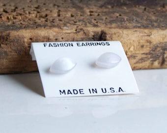 Plastic Earrings, Leaf Earrings, Tiny Earrings, Frosted Earrings, Post Earrings, Etsy, Etsy Jewelry, Vintage Earrings