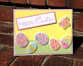 Lavender Happy Easter Egg Butterfly Card