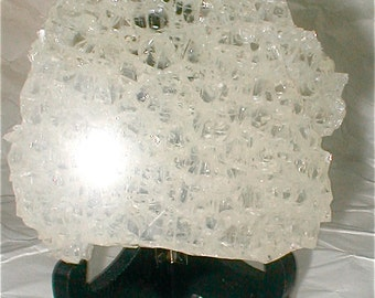 Shattered Glass Door Fragment - As Found -  Hunk of Gorgeous Thick Glass - Shard of Glass - Display and Photography Prop