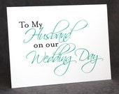 To Groom From Bride Card, To My Husband on Our Wedding Day Card