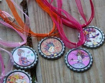 Nancy Girl Tea Party Birthday Party Favor Necklaces 3pk