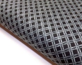 Last Meter in Stock Northcott Pandamania Gray Bamboo Lattice on Black Quilting Sewing Fabrics