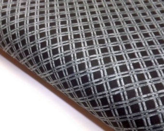 Last Meter in Stock Northcott Pandamania Gray Bamboo Lattice on Black Quilting Sewing Fabrics