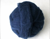 Roving for Spinning or Felting -- Polypay Wool Navy 14 -- 4 oz.