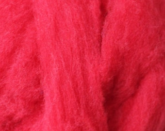 Polypay Wool Roving for Spinning -- Cherry Red