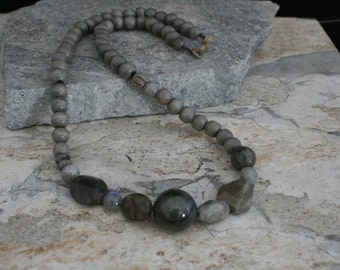 Labradorite One of a Kind Bead Necklace