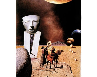 Journey - collage surreal, fantasy LIMITED Edition Archival Print