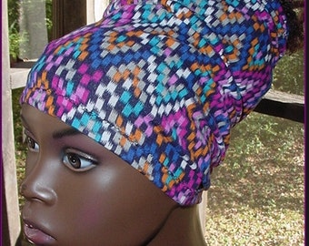 Headband-Tube-Dreadlocks-Multi-Colored-Stained Glass-Locs-Natural Hair-Virtuous Creations