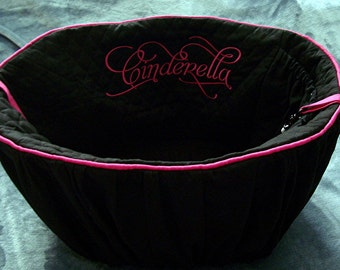 Bicycle Basket Liner - Dogs -  Includes Embroidered Personalization - Solid Colors