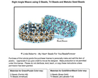 Beading Tutorial - Garden Path Bracelet - Right Angle Weave