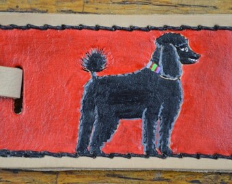 Luggage Tag with Black Poodle