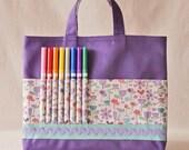 Crayon Bag Crayon Tote ARTOTE READY to SHIP in Woodflower