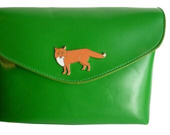 Mr Fox Green Handbag