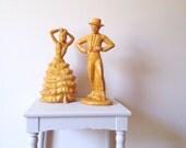 Vintage Ceramic Flamenco Dancers (Set Of 2)