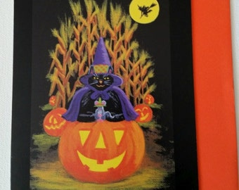 """Halloween frame-able greeting card """"Hurry up and wait"""""""