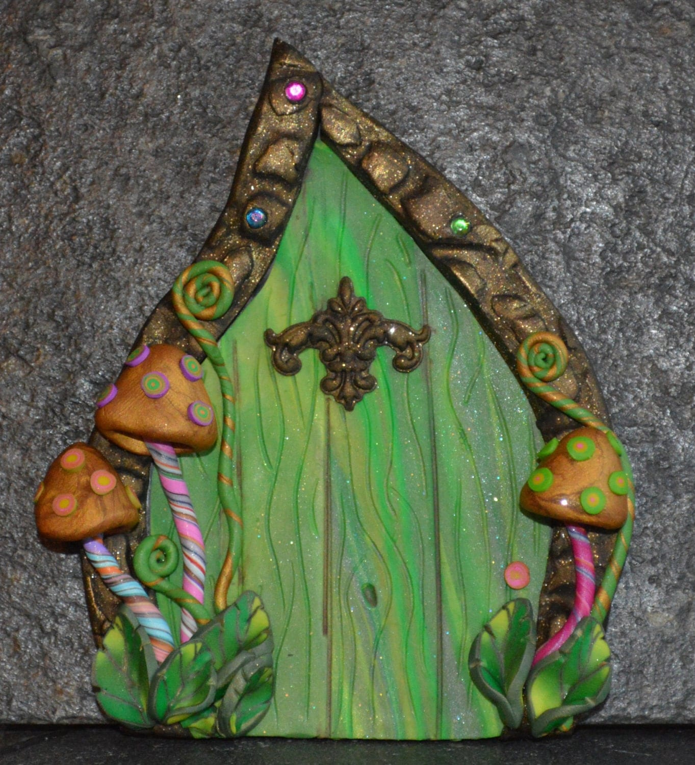 Wild mushroom fairy door miniature fairy door fairy garden for Miniature fairy garden doors
