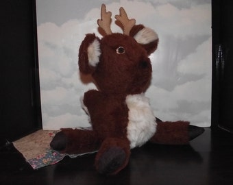 Reindeer Stuffed Animal Toy to Play With! Plush Faux Fur Reindeer Stuffed Animal TOY
