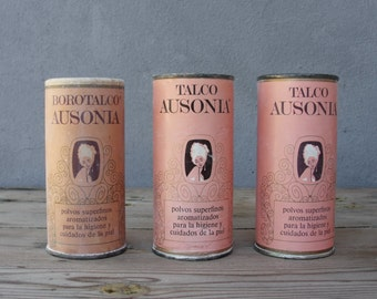 Spanish Vintage Talk Powder Tins 1940's - 1950's Made in Barcelona