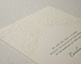 Wedding Invitation Sample, Vintage Lace