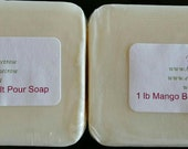 2 lb MANGO BUTTER Melt and Pour Soap Natural No SLS Base Vegan Soduim Laurel Sulfate Free