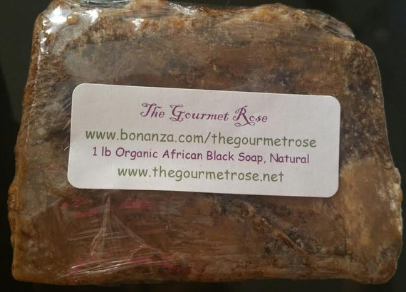 1 lb Organic AFRICAN BLACK SOAP Body Bar Acne Blemish 100 All Natural Antiseptic Proactive Skin Solution Melt and Pour Wholesale Bulk