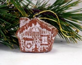 Christmas Tree Decoration , Pottery Tree Ornament , Rustic Christmas Decor , Limited Edition