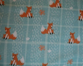 Fox Plaid in Teal from the Wonderful Woodlands collection by Wilmington Prints 69261-481 by the fat quarter or half yard