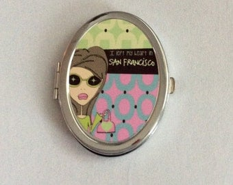 Compact Mirror - I left my heart in San Francisco