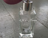 Lilac Square Perfume Atomizer- Can Be Custom Filled