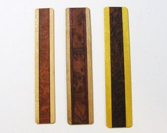 Bookmarks Made Of Burl Woods