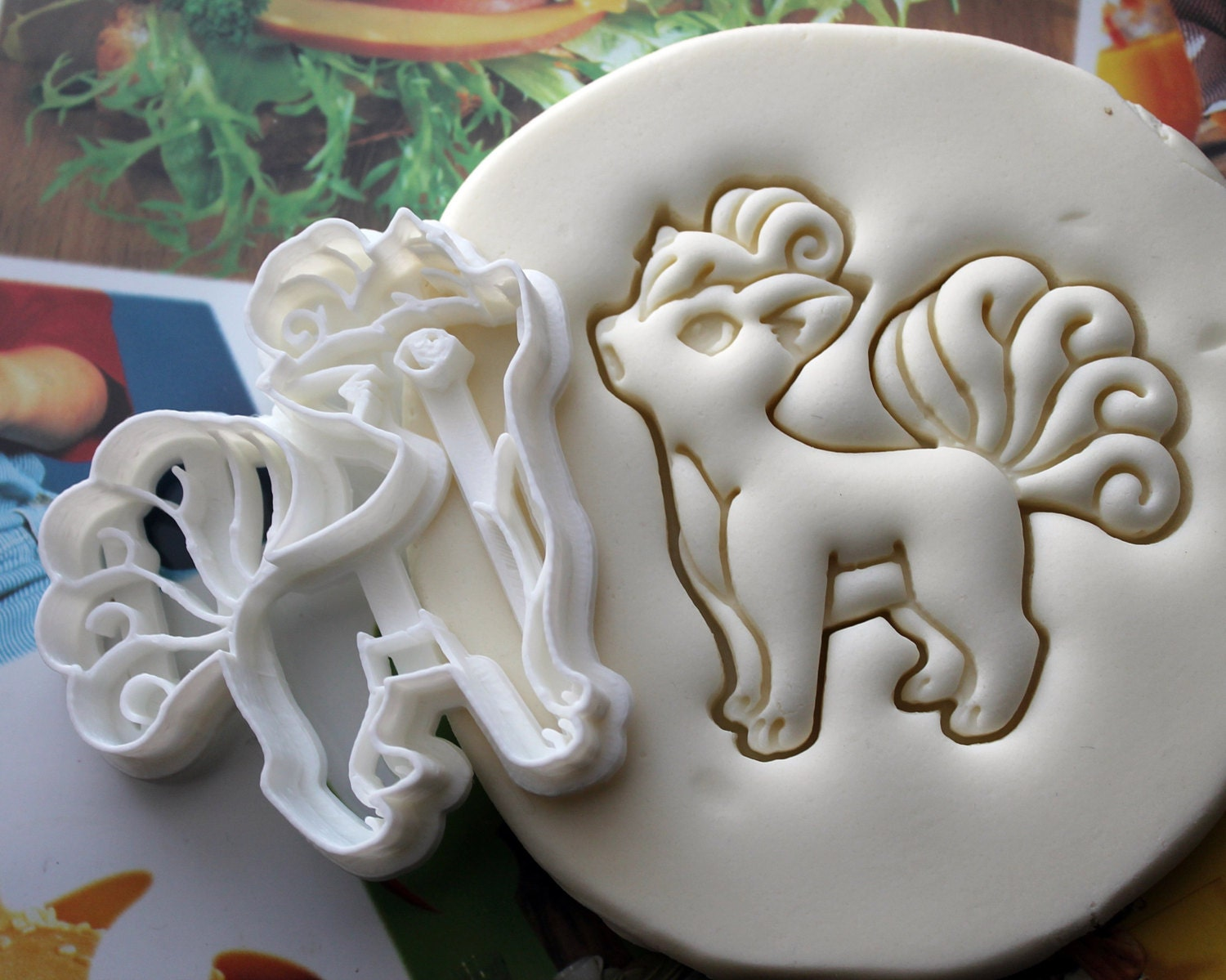 vulpix pokemon cookie cutter made from biodegradable