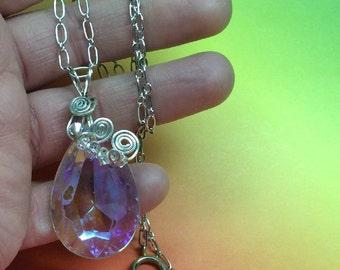 OOAK handmade Sterling & vintage chandelier pendant