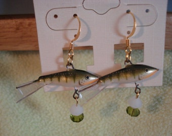 Rapala Jigging Rap Earrings Olive