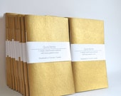 Gold Painted Soft Cover Notebook, Hand Bound Journal, Quick Notes Journal, Bridesmaids gifts, Wedding Favors