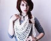 The Lace boho scarf Mori Girl gypsy shawl skirt vegan head wrap